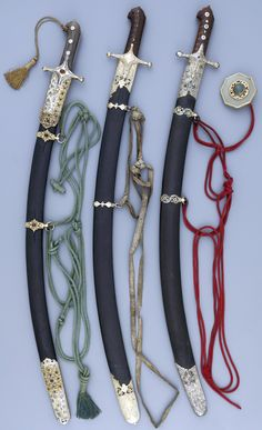 Sabres with karabela hilt, late 17th century or around 1700, Ottoman Empire or Polish, Museum Hessen Kassel.