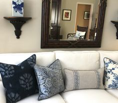 New White and Blue Living Room Project
