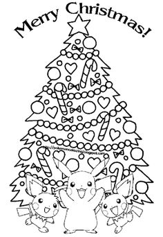 pokemon christmas coloring pages - Coloring Page Pokemon