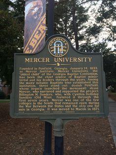 Mercer University Mercer Football, Mercer Bears, Mercer University, My Route, Macon Georgia, College Classes, Old Things, Colleges, Markers