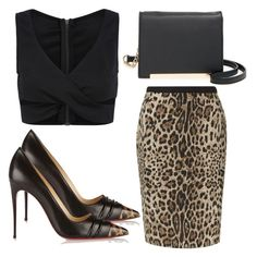 """""""Untitled #2606"""" by fiirework ❤ liked on Polyvore featuring BP., Precis Petite and Christian Louboutin"""