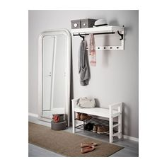HEMNES Entrébenk med skoplass - hvit - IKEA