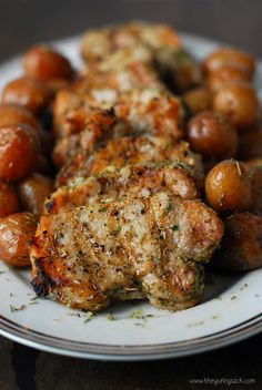 Grilled garlic rosemary pork medallions