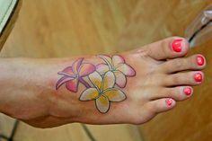Plumeria tattoo @Melissa Squires Bosi