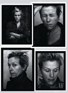 Frances McDormand, photographed in New York City by Annie Leibovitz for Vanity Fair January 2018 issue.