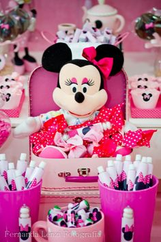 Minnie Mouse Themed Birthday Party Disney Pink Girl