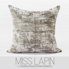 MISS LAPIN/简约现代设计师样板房沙发高档抱枕/金色雪尼尔三色提花星空方枕/布艺-淘宝网