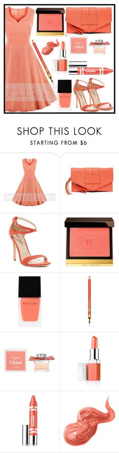 """""""sevengrils"""" by merisa-imsirovic ❤ liked on Polyvore featuring Via Spiga, Tom Ford, Witchery, Estée Lauder, Chloé, Clinique, Bobbi Brown Cosmetics and vintage"""