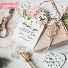 Printable Blush Pink Floral Gift Tag, Wedding Thank You Tag, Name Tag, Favor Tag, Honey Wedding Favors, Creative Wedding Favors, Inexpensive Wedding Favors, Elegant Wedding Favors, Edible Wedding Favors, Wedding Gift Tags, Party Favor Tags, Wedding Favors For Guests, Wedding Thank You