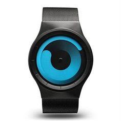 El Reloj Ziiiro Mercury Black Ocean, totalmente de acero inoxidable tanto en la caja como en la correa de malla en mate negro. #mercury #ziiiro #watches
