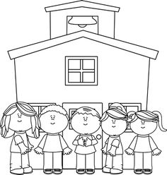 back to school clipart black and white teachers and students and rh pinterest com clipart school black and white black and white school clipart free