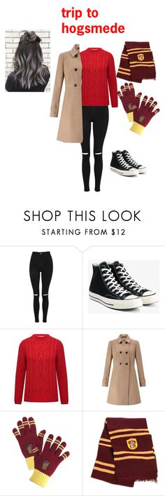 """trip to hogsmede"" by lchowdhury-1 ❤ liked on Polyvore featuring Topshop, Converse, M&Co, Miss Selfridge and Universal"