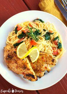 Copycat Johnny Carino's Lemon Rosemary Chicken Recipe Copycat Recipes, Beef Recipes, Chicken Recipes, Healthy Recipes, Recipies, Chicken Ideas, Turkey Recipes, Grilled Chicken Tenders, Chicken