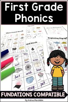 These Fundations First Grade Worksheets support the learning in the Wilson Program Units 1 - 14.  You can include these in your lesson plans, word work stations, or homework.  These Level 1 Fundations worksheets support the concepts learned in each unit along with the trick words.  You can get the whole bundle pack for a discounted price! First Grade Phonics, First Grade Worksheets, First Grade Activities, First Grade Classroom, Teaching Phonics, Help Teaching, Elementary Teaching, Teaching Ideas, Phonics Blends