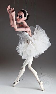 wooden marionette ballerina | Czech Marionettes | Ballerina Czech Marionette