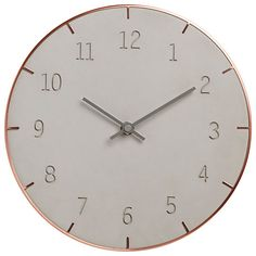 Buy Umbra Piatto Conrete Wall Clock Online at johnlewis.com