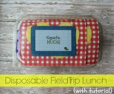 Disposable Field Trip Lunches {with tutorial} by mamabelly.com