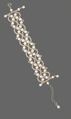 Diseño de Joyería - Pulsera con blancas Lotus ™ cultivadas perlas de agua dulce y perlas de semillas de oro - Fire Mountain gemas y perlas