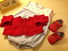 Baby boy outfit. Blue. White. Red