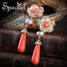 Special New Fashion Natural Stone Earrings Non-ear Piercing Ear Clips Vintage Gold-plated Jewelry Gifts for Women EJ0035