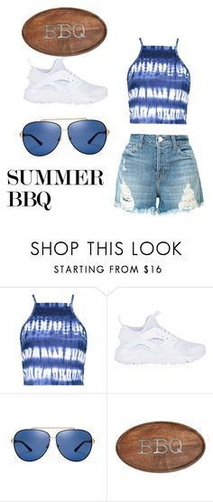 """""""Summer BBQ"""" by queenbles ❤ liked on Polyvore featuring Boohoo, NIKE, Tory Burch, Mud Pie and J Brand"""