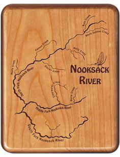 Custom Designed - Laser Engraved - River Map Fly Boxes by StoneflyStudio Fly Fishing Gear, Fishing Tips, Washington River, Custom Boxes, Custom Engraving, Vancouver, Seattle, Cities, Custom Design