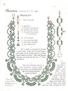 Brian a Necklace Tutorial - 2 Seed Bead Patterns, Beaded Jewelry Patterns, Beading Patterns, Jewelry Making Tutorials, Beading Tutorials, Bead Crafts, Jewelry Crafts, Necklace Tutorial, Seed Bead Jewelry