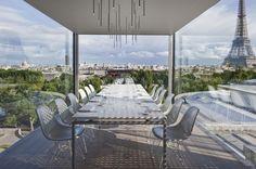 Elegante terraza desde Nomiya en Paris