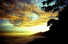 Wow, what a sunset! At Corcovado National Park