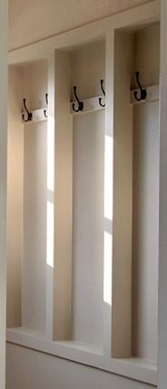 "entryway ""between the studs"" recessed ranch no closet studs coats - Google Search"