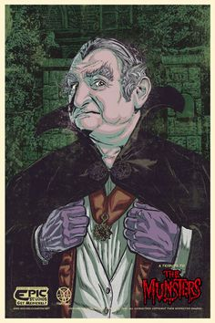 Grandpa Munster~The Munsters Munsters Tv Show, The Munsters, Munsters Grandpa, Michael Champion, Famous Vampires, Classic Monsters, Old Shows, Vintage Horror, Old Tv