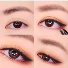 Best Eye Makeup Tutorial Step By Step Korean Ideas - Makeup Tips Korean Makeup Look, Korean Makeup Tips, Asian Eye Makeup, Korean Makeup Tutorials, Asian Makeup Hacks, Makeup Trends, Makeup Inspo, Cute Makeup, Makeup Looks