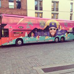 Fitti's Tourbus für die HitsundBrummer-Tour! Vitamin Water, Tour Bus, Instagram Posts