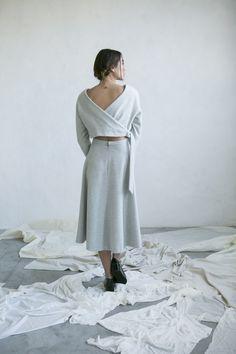 Winter look made in Barcelona grey wool