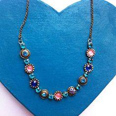 Vintage Style Pretty Gems Necklace £4.50