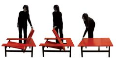 Sweetch18, Design Benoit Lienart, France. Selected by the prestigious L'Observeur du Design 2011 for innovative new design, Sweetch18 is an armchair / coffee table, a coffee table / armchair, two pieces of furniture in one.