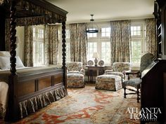 I sort of like the thick curtains for the bedroom. | Storied Charm: the Charles Case House in Buckhead | Atlanta Homes & Lifestyles