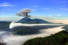 "Happy #EarthDay! Today is the last day to buy signed prints from our photographers for only $100. Visit the link in profile to see the full collection of images. Photo by @johnstanmeyer: Mount Semeru, Mount Bromo and Mount Batok are three sacred volcanoes on Java, Indonesia, that have shaped both the culture and the landscape of the region. These incredible geological formations were published as part of our story ""The Gods Must be Restless"" in the January 2008 issue of National Geographic…"