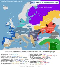 Map of late Neolithic cultures in Europe - Eupedia