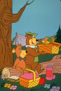"Yogi Bear and Boo-Boo, TV Show, 1961 .. ""I'm smarter than the av-er-age bear!"""