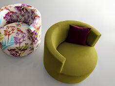 Round Backrest Chair Chance by Saba Italia - Kuche Ideen Miniature Crafts, Miniature Dolls, Vitrine Miniature, Miniature Furniture, Dollhouse Furniture, Diy Dollhouse, Dollhouse Miniatures, Diy Barbie Furniture, Tyre Furniture