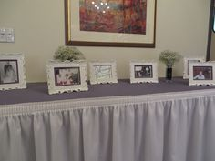 A memory table is a fond way to remember those who have passed. Here is Hillary and Jacob's memory table at their wedding on November 2, 2013.
