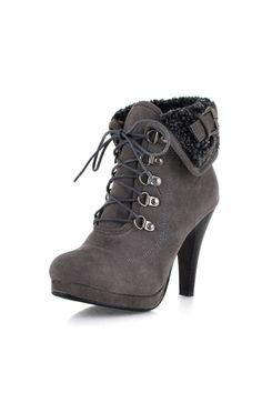 Fancy Lace-Up Stiletto Heel Ankle Boots - Shoespie.com