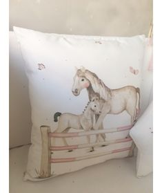 Textiles, Throw Pillows, Bed, Drawings, Horses, Toss Pillows, Cushions, Stream Bed, Decorative Pillows