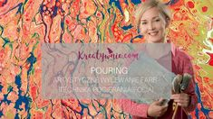 Pouring - technika pocierania folią Diy Tutorial, Flower Power, Lily Pulitzer, Decoupage, Film, Youtube, Tutorials, Painting, Movie