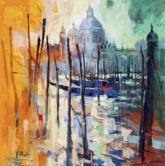 Venezia, 180x180 cm/70,87x70,87 inch, acrylic on canvas.