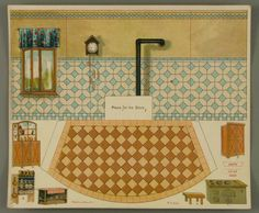 107.3834: Kitchen | paper furniture | Dollhouses | Toys | Online Collections | The Strong
