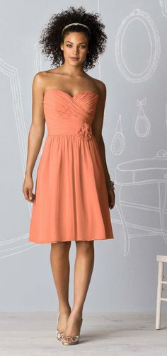 Shop After Six Bridesmaid Dress - 6609 in Lux Chiffon at Weddington Way. Find the perfect made-to-order bridesmaid dresses for your bridal party in your favorite color, style and fabric at Weddington Way. Dessy Bridesmaid Dresses, Beautiful Bridesmaid Dresses, Cute Dresses, Wedding Dresses, Aqua Bridesmaids, Bridesmaid Ideas, Party Dresses, Bridal Gowns, Girls Dresses