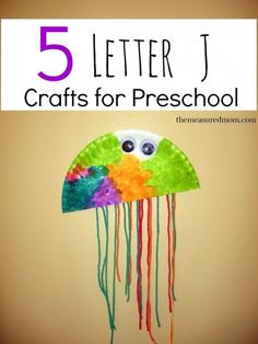 Fun letter J crafts and art projects for preschool