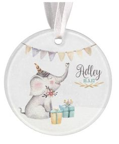 Boys baby ornament elephant ornament baby ornament elephant baby ornament personalized christmas ornament baby gift personalized baby gift christmas ornament negle Image collections